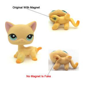 Littlest Pet Shop Yellow Cat 339 Brooke Raceabout Ranch Lps Toys Ebay