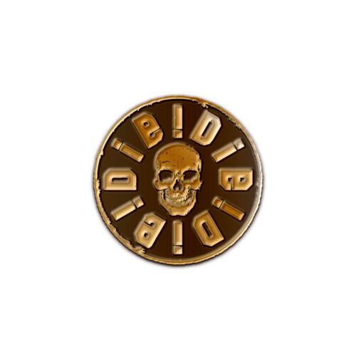 DIE!DIE!DIE Antiquated Gold Pin