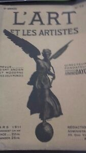 Revista ARTE Y Las Artistas A. Dayot N º 72 6EME Annee Mars. 1911 París