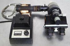 T160067 Nikon Trinocular Microscope Head With Micromanipulator 15x Image Erector