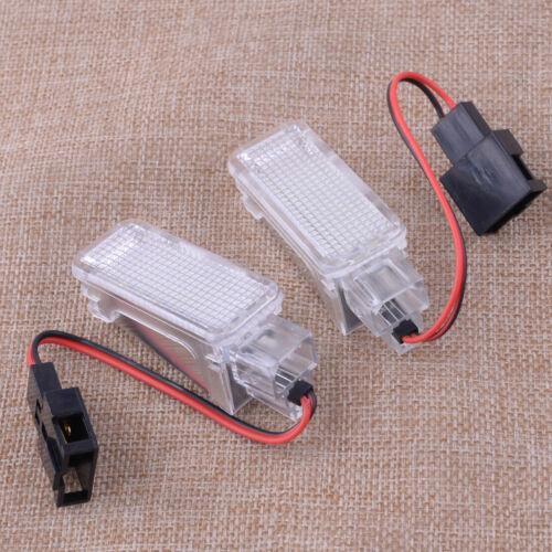 4pc Error Free WHITE 18 LED LIGHTS FOOTWELL fit for Skoda Octavia MK3 5E 12-2017
