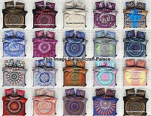 Indian-Mandala-Quilt-Duvet-Cover-Queen-Bedding-Cotton-Doona-Cover-Blanket-Set