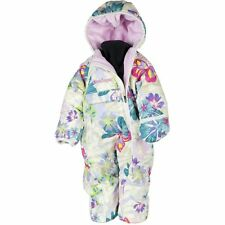 New Obermeyer Infant Girls Snuggle Bunting Reversible Snowsuit 6-12 M Butterfly