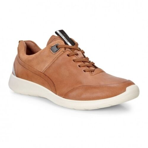 Ecco Soft 5 Ladies Womens Nubuck Leather Sporty Lightweight Lace Up Trainers