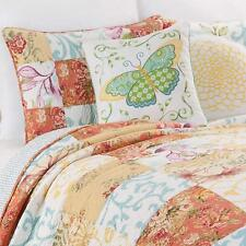 Leafy Floral Garden Reversible Quilt Country Cottage Chic Design