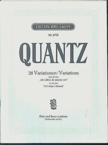 QUANTZ-28-Variationen-ueber-die-Arie-034-Ich-schlief-da-traeumte-mir-034-Floete-u-B
