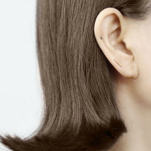 14k Gold Stud Earring Rose Gold Earring 14k Solid Rose Gold Edge Piercing
