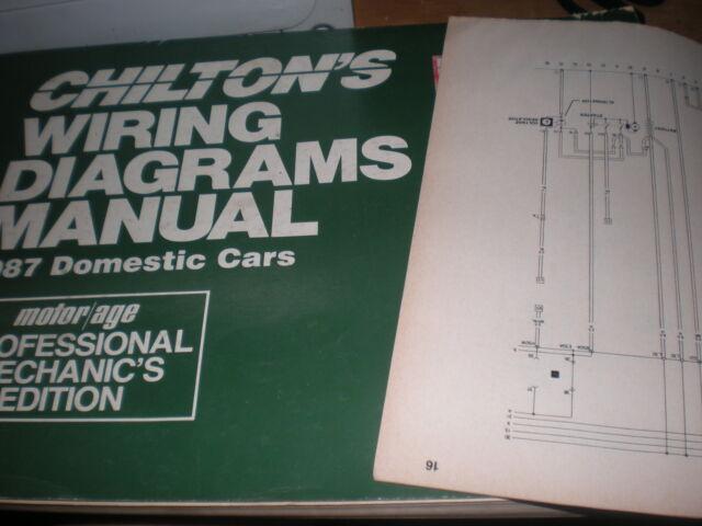 1987 Chevrolet Monte Carlo El Camnio Wiring Diagrams Schematics Manual Sheet Set