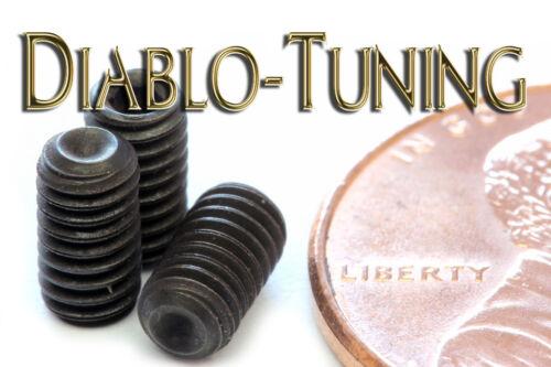 "Black Alloy Steel Qty 10 Socket SET // GRUB SCREWS Cup Point #6-40 x 1//4/"""
