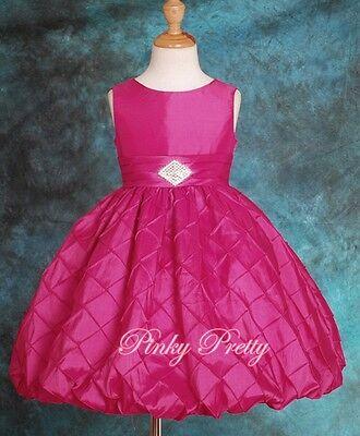 Bubble Pattern Dress Wedding Flower Girl Bridesmaid Party Kids Age 2y-12y FG083