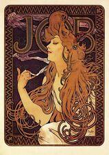 ALFONS MUCHA JOB PLAKAT von 1897 JUGENDSTIL FAKSIMILE 2 auf Büttenpapier