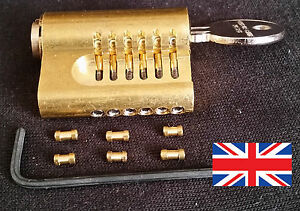 YALE-CUTAWAY-6-PIN-RE-PINNABLE-EURO-PRACTICE-LOCK-with-extra-pins-Made-in-UK