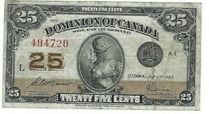 Dominion-of-Canada-1923-25-McCavours-Saunders-Shinplaster-in-VF-Condition