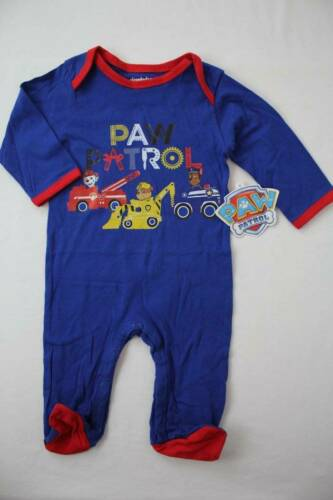 NEW Baby Boys Paw Patrol Bodysuit 6-9 Months Footed Sleeper Outfit Dogs PJs
