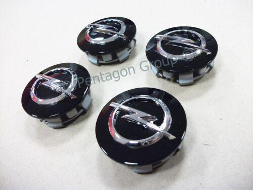 Black Alloy Wheel Centre Caps X4 13395741 New Genuine Opel Astra J Mk 6 2010