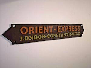 Orient Express - Heavy Cast Iron Sign - Railway Train - Agatha Christie