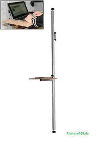 Steharbeitspla<wbr/>tz, Höhenverstellb<wbr/>arer Schrebtisch, Boden-Decken Stange mit Tisch