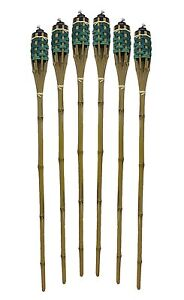 12Pack-Bamboo-Tiki-Torches-Bamboo-Covers-48-034-Includes-Oil-Canisters-Green