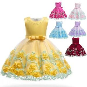 Princess-dress-girl-dresses-tutu-flower-baby-party-bridesmaid-wedding-formal-kid