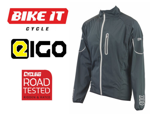 2016 EIGO MISTRAL WINDPROOF CYCLING JACKET FOR ROAD MOUNTAIN BIKE MTB BLACK