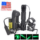 XM-L T6 / XPE LED WF-501B Flashlight Torch+Mount Rifle Gun Rail+Pressure Switch