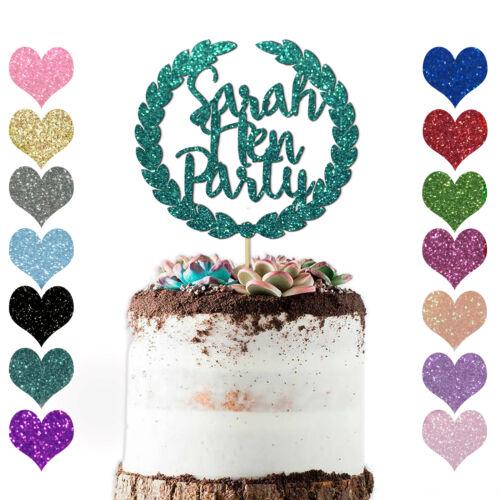 Novia a Ser Gallina Fiesta Cake Topper Chicas Personalizado personalizado Compromiso Gallina Do