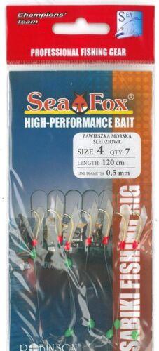 ROBINSON Sea Fox Heringsvorfach III mit 7 Einzelhaken in den Größen 2 oder 4