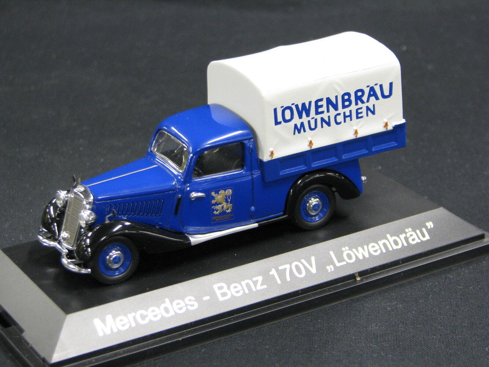 Schuco Mercedes-Benz 170 V Planenwagen 1 43  Löwenbräu München  (JS)