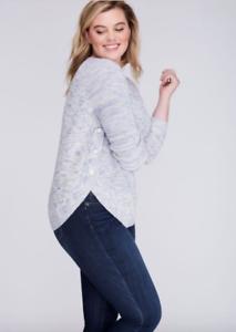 a29219bdbbe Lane Bryant Marled Sweater with Button Circle Hem Womens Plus 18 20 ...