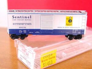 MTL 20256 BALTIMORE & OHIO 'Sentinel' 40' Box Car #466032 MINT N-SCALE