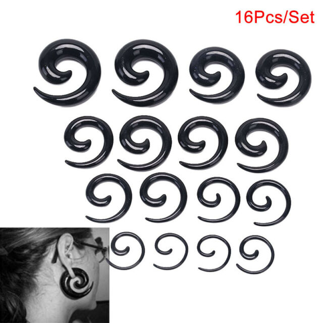2 Spiral Ear Taper Expander for Flesh Tunnel Plugs 3 4 5 6 8 10 mm Animal Print