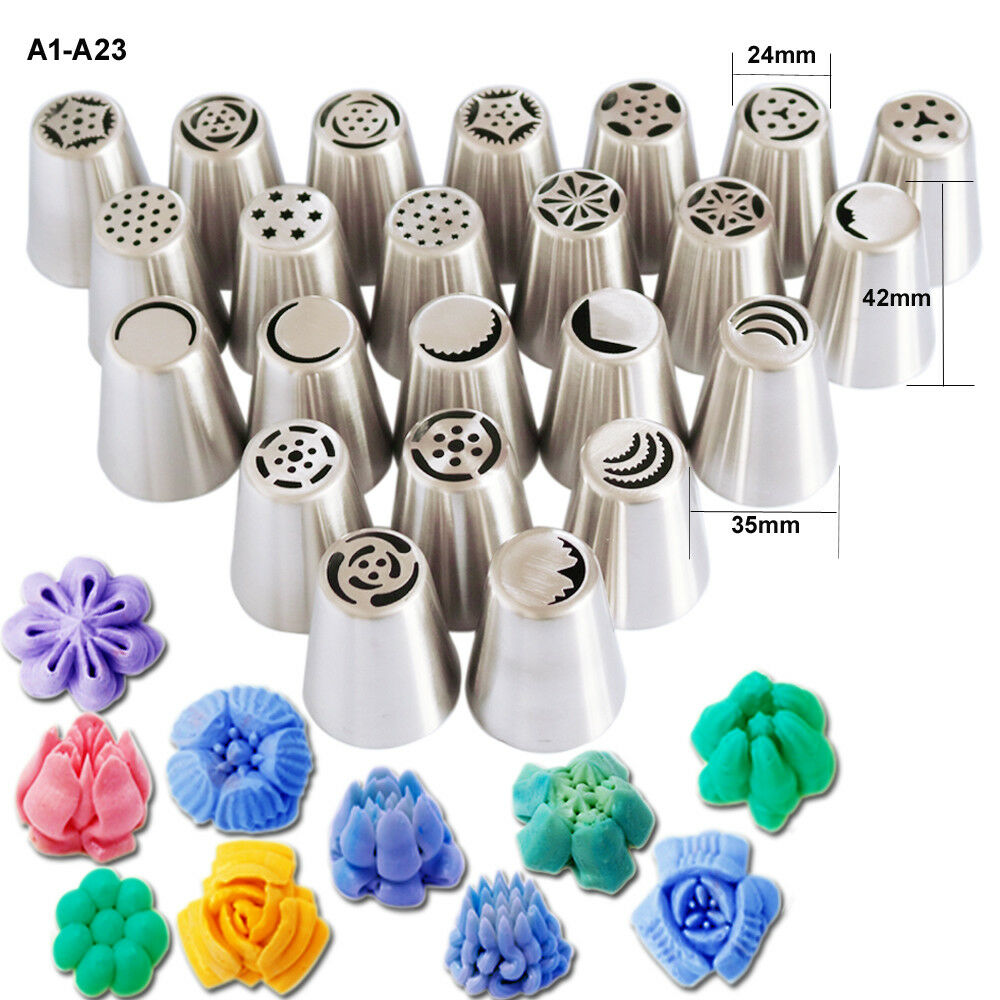 Stainless Steel Nozzles Pastry Set professional Kit Icing Icing Icing Cake Decoration 129PCS 15f9f5