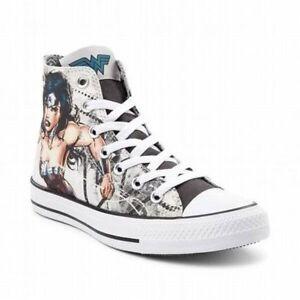 NEW Print Converse Chuck Taylor All Star Hi Wonder Woman Sneaker ... 3c91ea97a