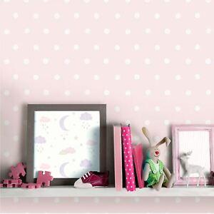 Petit-Ceux-Eco-responsable-Papier-Peint-Rose-a-Pois-Grandeco-LO2602