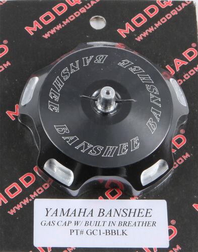BLACK LOGO GC1-BBLK MODQUAD BILLET GAS CAP
