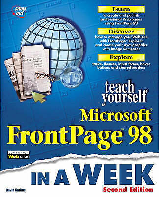TEACH YOURSELF MICROSOFT FRONTPAGE 98., Karlins, David., Used; Very Good Book
