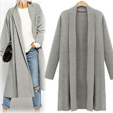 Womens Open Front Trench Coat Long Cloak Jackets Overcoat ...