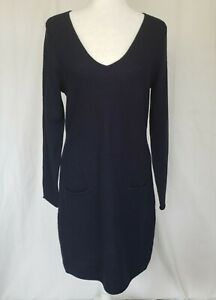 Anthropologie-Navy-Blue-Merino-Wool-Sweater-Dress-Large