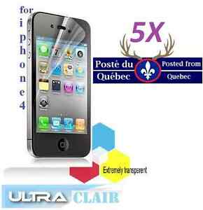5X-Protecteur-Ecran-ULTRA-clair-iphone-4-4g-4s-iphone4-Clear-Screen-Protector