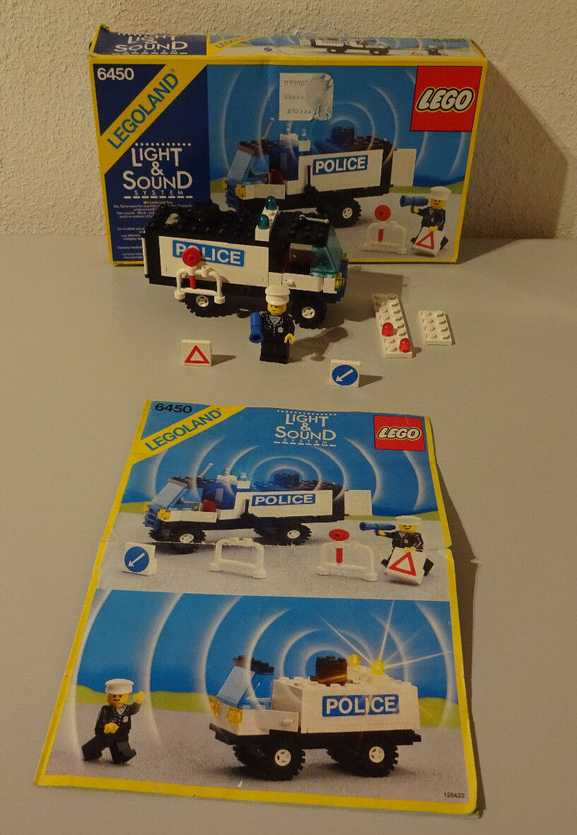 (I2 ) Legoland 6450 Police Car with Ba 100% 9 Volt Complete Rare