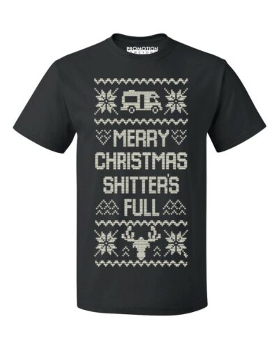 Merry Christmas Shitter/'s Full Ugly Christmas Men/'s T-shirt funny Xmas tee
