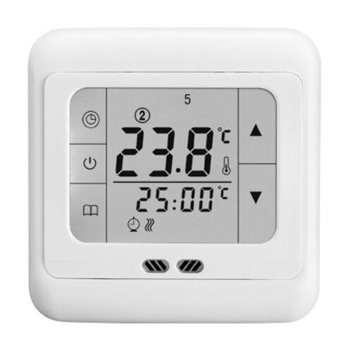 Floureon Digital Digitaler LCD Thermostat Raumthermostat Fußbodenheizung 16A DE