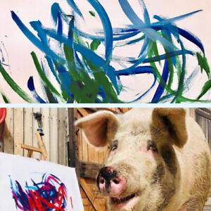 Pigcasso-Painting-Pig-Abstract-Art-Life-Is-Beautiful-Snout-Signed-Ltd-Ed-Print