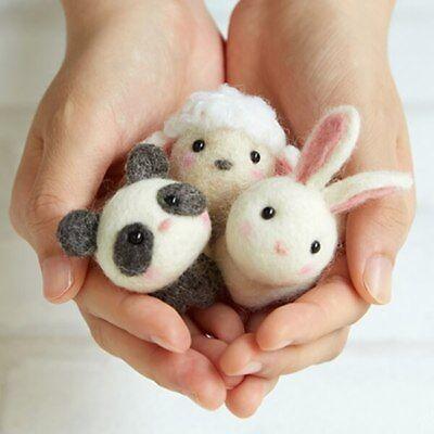 Facaily Wool Felting Kit DIY Handmade Cute Animals Doll Tool Set Craft Felting Material Bag