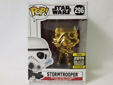 Funko POP ! STAR WARS Celebration Gold Chrome Stormtrooper - Galactic Exclusive