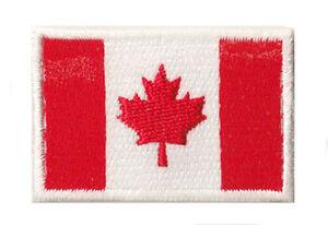 Petit écusson drapeau Canada thermocollant badge Canadien 45x30mm