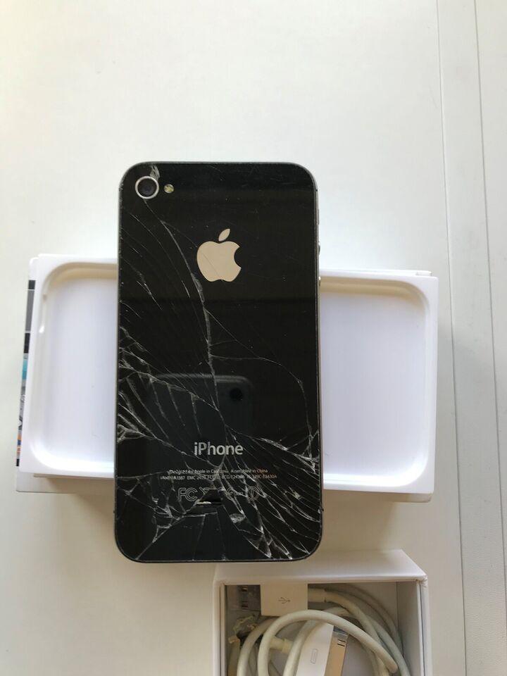 iPhone 4S, 32 GB, sort
