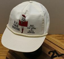 "VINTAGE B.J.'S ORE HOUSE ""BEST LITTLE ORE HOUSE IN BUTTE MONTANA"" HAT SNAPBACK"