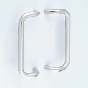 Satin Stainless Steel Cranked Back to Back Door Pull Handles (Pair) 600mm x 32mm