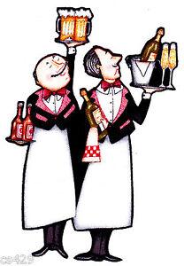 "2.5/""-4.5/"" Fat italian chef baker cook waiter heat transfer iron on character"